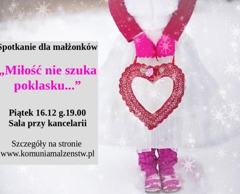 Miłość nie szuka poklasku